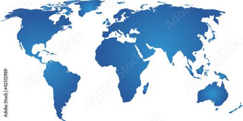 Spoed canvasdoek 2cm dik Wereldkaart weltkarte