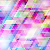 Fototapety Abstract background with colored triangles