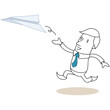 Geschäftsmann, Papierflugzeug