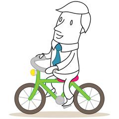 Geschäftsmann, Fahrradfahren