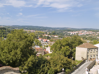 Viseu, historic town of Portugal. Urban view
