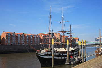 tall ship on River Weser