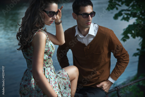 couple sitting and relaxing