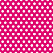 Seamless pink and white polka dots pattern