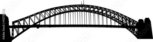 Sydney Harbour bridge silhouette - 42515735