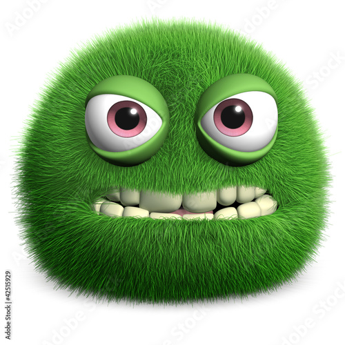 Keuken foto achterwand Sweet Monsters green furry monster
