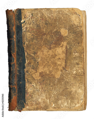 The old book, great texture, isolated on white