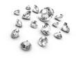 3d Diamonds Scattered sideways