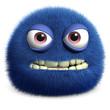 blue cute monster