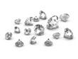 3d Diamonds Scattered