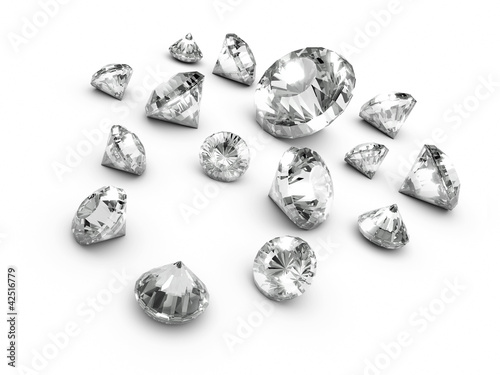 3d Diamonds Scattered sideways