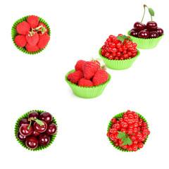 fresh berries in paper form