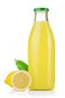 Bottle of lemon juice and fresh lemons