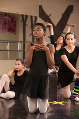 Young Dancers Waiting