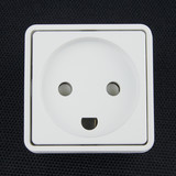 Electrical socket on black background