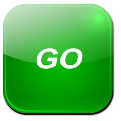 App Symbol Go grün