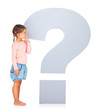 Confused little girl looking for answers