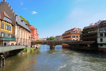 Panorama of Petit France area in Strasbourg