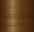 Seamless gold Greek elements