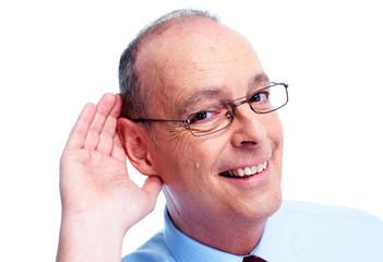 Deaf man.