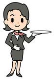 concierge - woman - presentation
