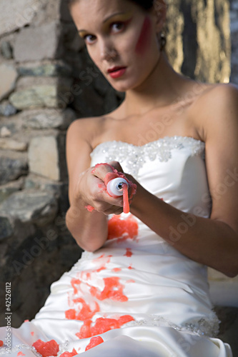 Bride with Red Paint