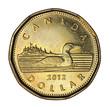 Canadian loonie one dollar coin