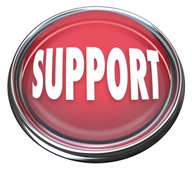 Support Red Round Button Get Help Answers to Questions