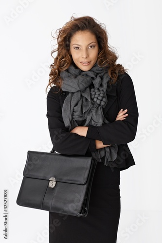 Portrait of attractive confident businesswoman
