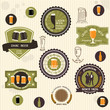 canvas print picture - Beer badges and labels in vintage style
