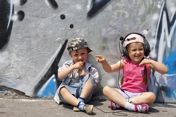 listen to music abstract concept with children