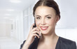 portrait of business woman talking on the phone