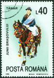 celebrating man riding horse