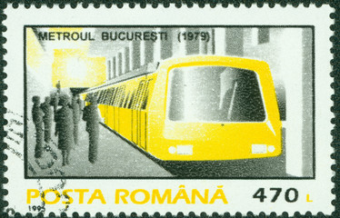 Bucharest Metro subway train