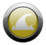 "Yellow Metallic Orb Button ""Tsunami"""