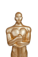 Oscar award on white background