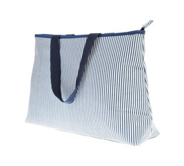 fabric cotton shopping bag on white
