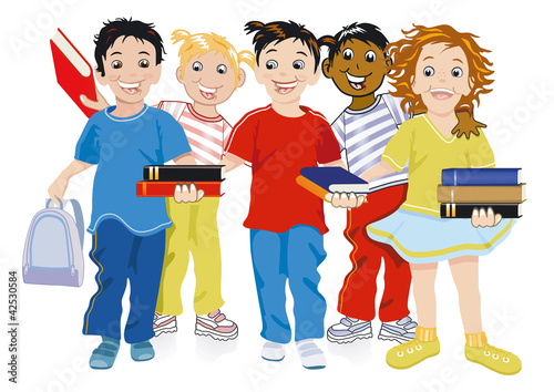 Kinder mit Bücher