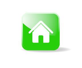 Bouton carré vert accueil