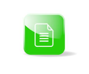 Bouton carré vert fichier