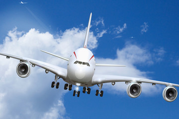 Jumbojet beim Landeanflug