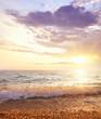 Sea on the sunset