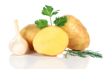 fresh raw potatoes