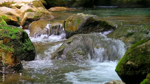 Small waterfall in forest