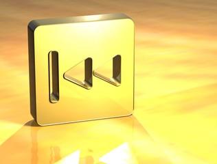 3D Forward Gold Sign