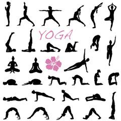 Yoga Übungen Vektor Set