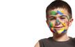 bambinocon faccia colorata