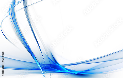 Gentle blue fractal background