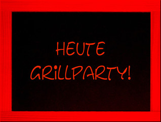 schild, ankündigung: grillparty