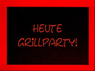 schild, ankündigung: grillparty
